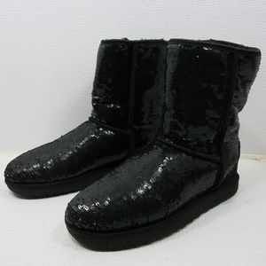 UGG 3161 Classic Short Sparkle Shearling Boots 9